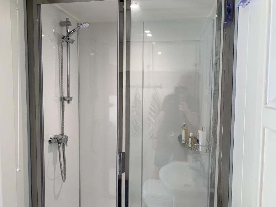 shower cubical  in summer house Surrey
