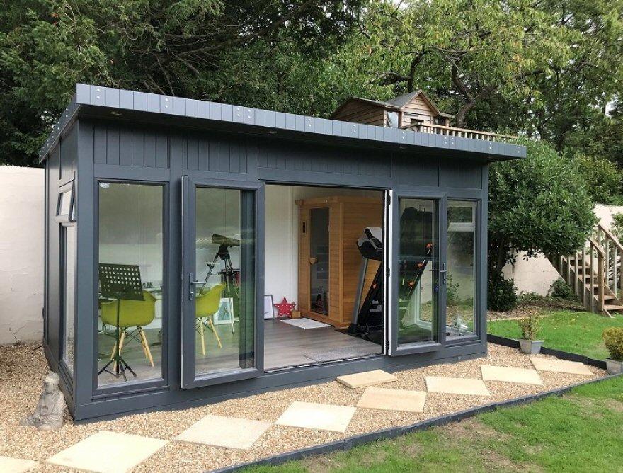 sauna in garden building Caterham Surrey