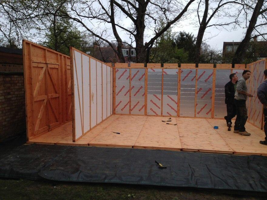 constructing a garden room
