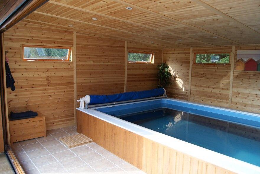 Endless pool garden room