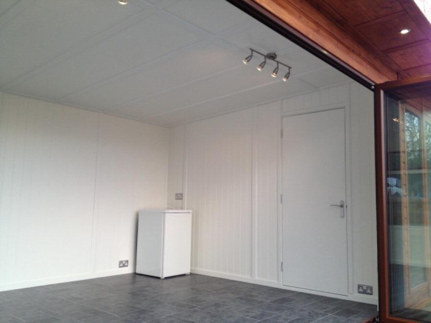 Door to changing room