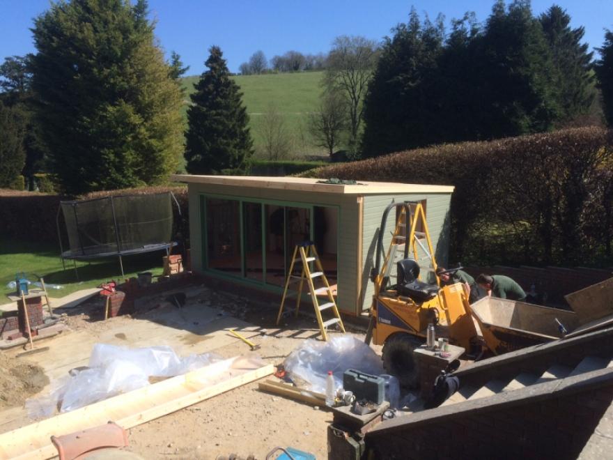 Midway through building installation