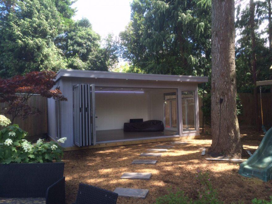 bi-fold summer house