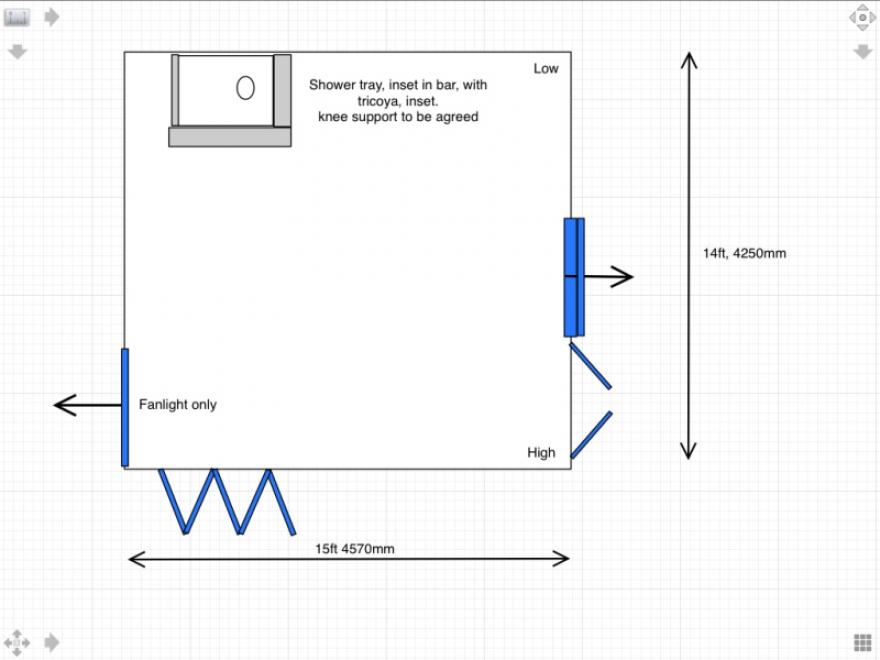 Plan of main room