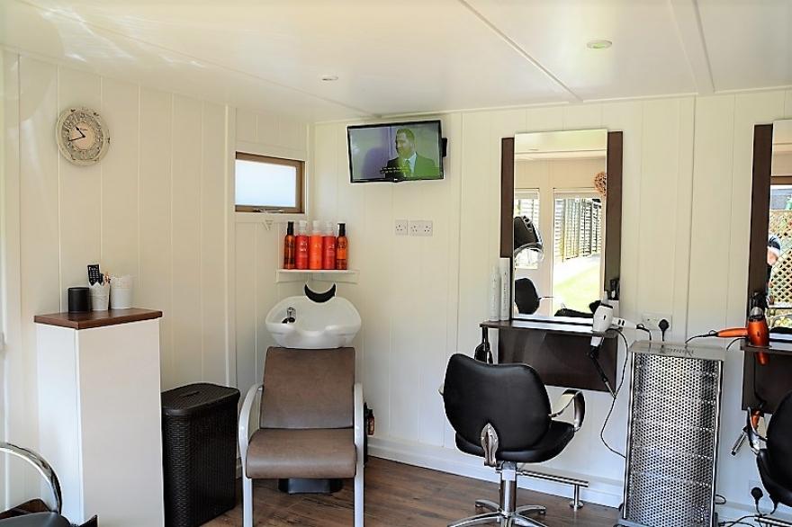 internals of a garden salon room