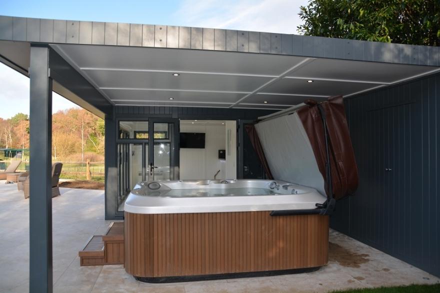 Hot-tub garden room