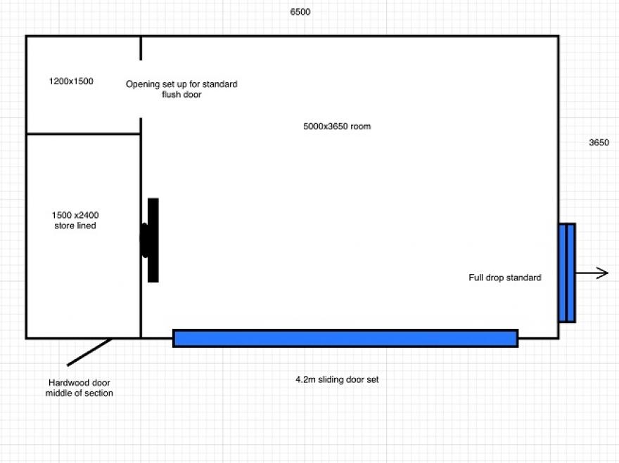 Plan drawing of summerhouse Horsham West Sussex