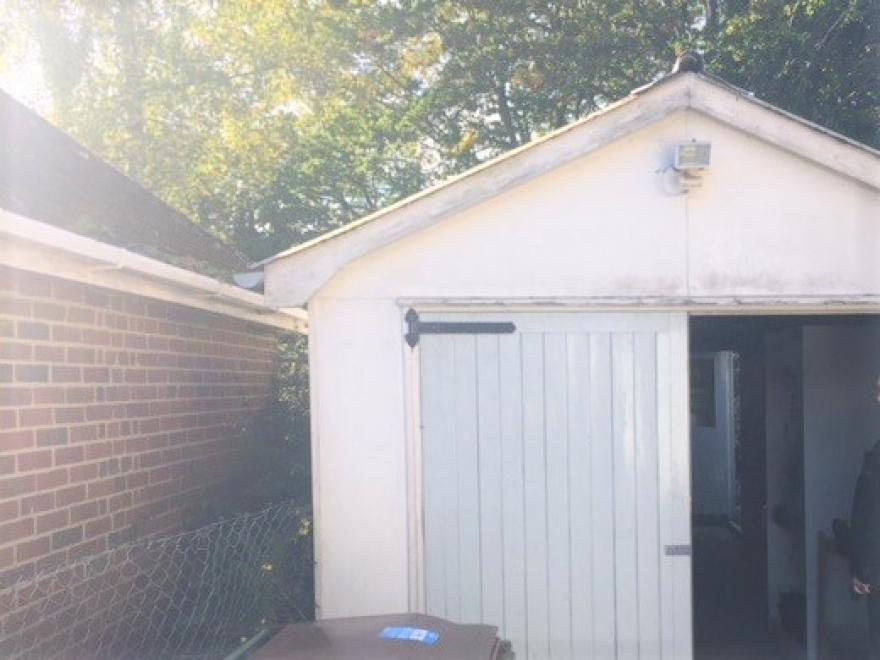 old garage before works started