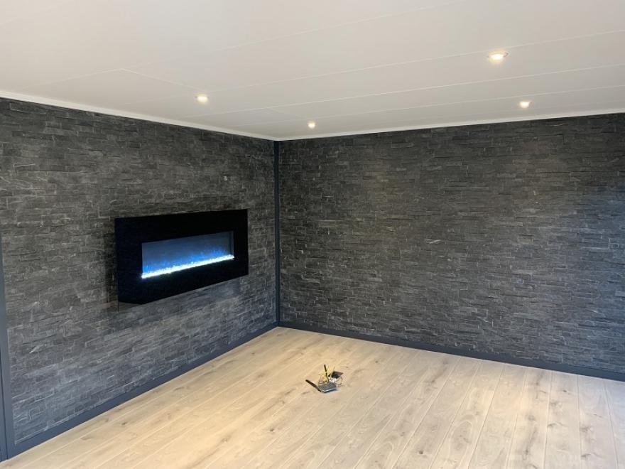 split faced tiled interior walls