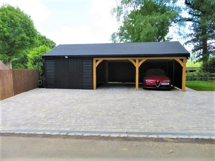 Garage build front view