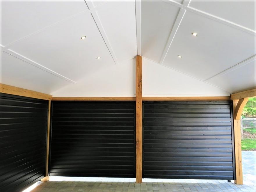 Double car barn internal view