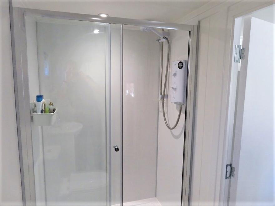 shower in summer house west Sussex