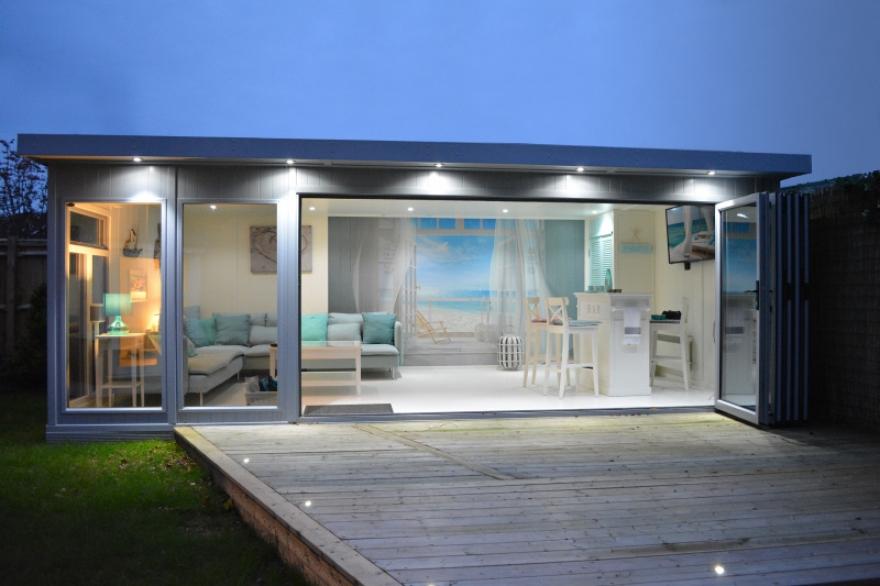 stunning contemporary garden room