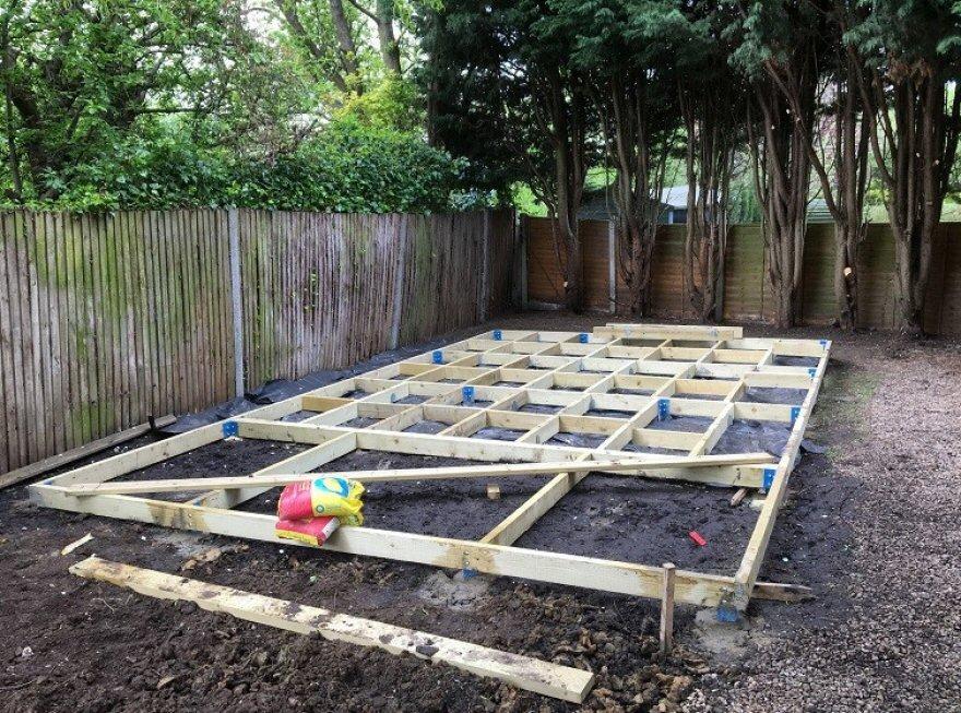 Base work for Garden Room in Ashtead Surrey