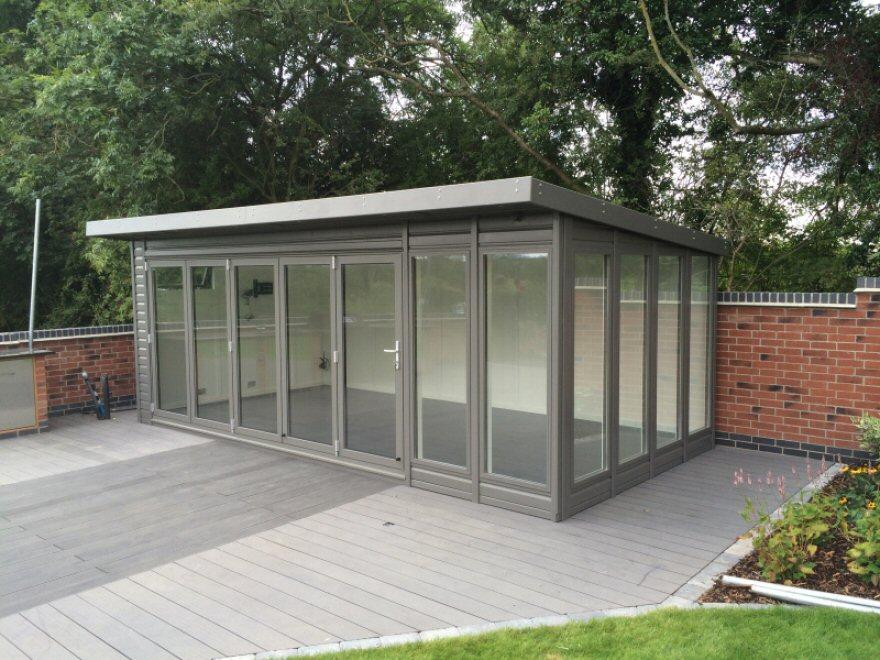 bi-fold garden room