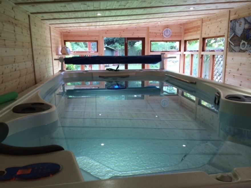 Beautiful swim spa garden room 24' x 12'