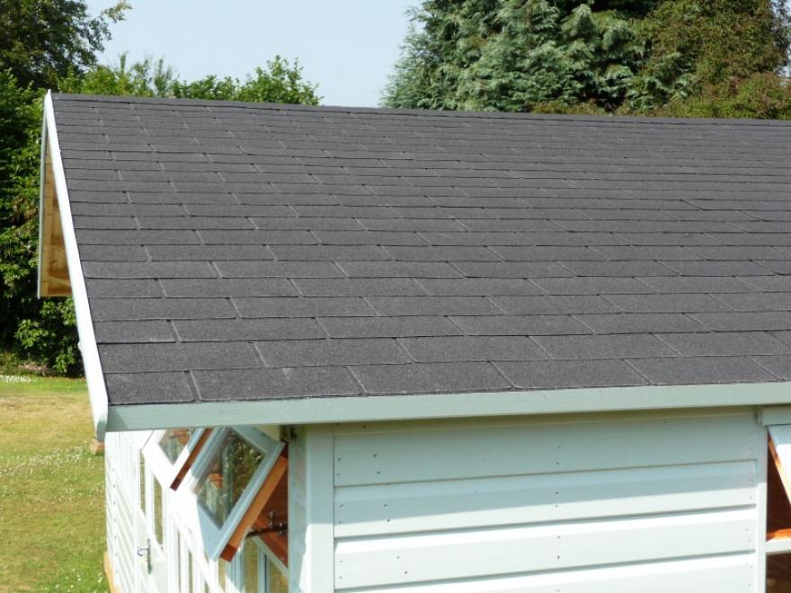 Black slate tiled roof