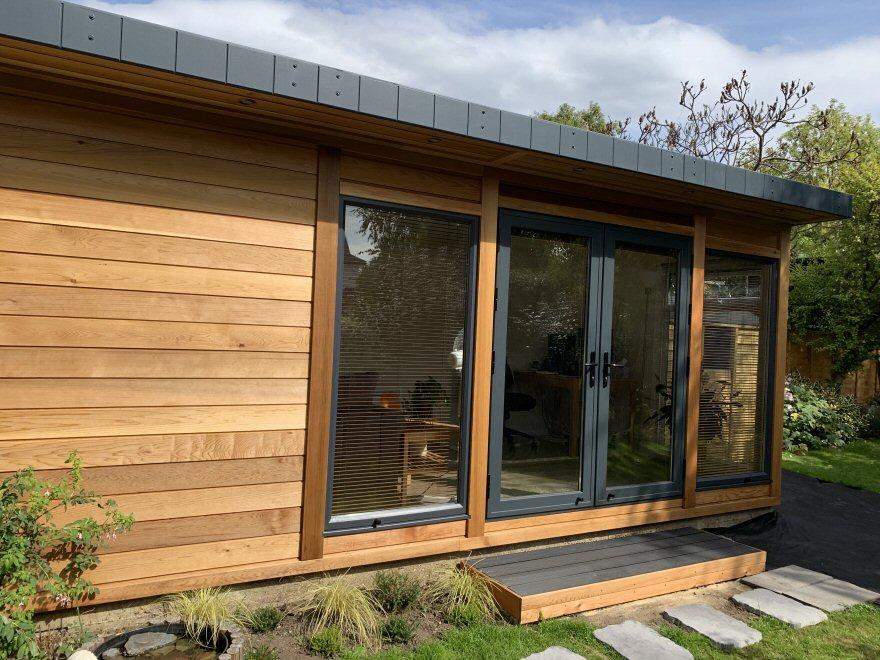 cedar cladding garden room