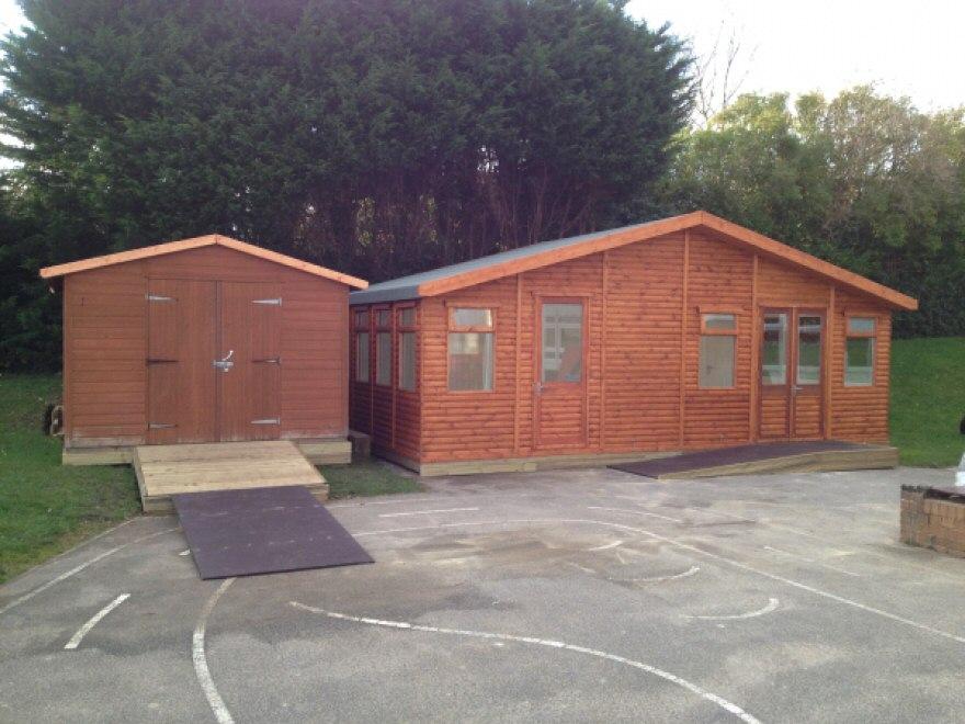 Classroom next to existing storage room