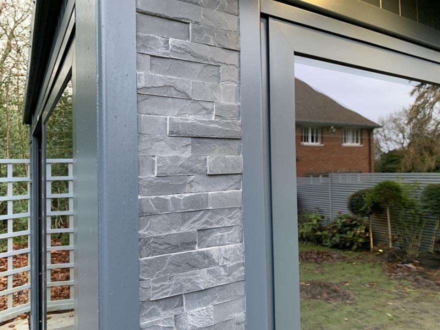 exterior slate stone pillar