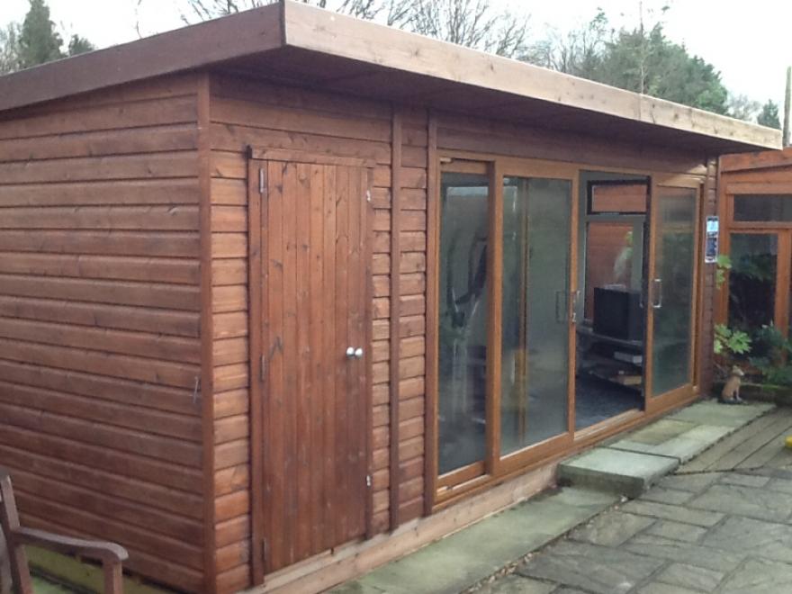 Bakers timber buildings welcome for Combi garden room