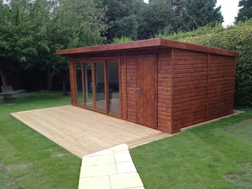 Customisable contemporary garden room bakers timber for Combi garden room