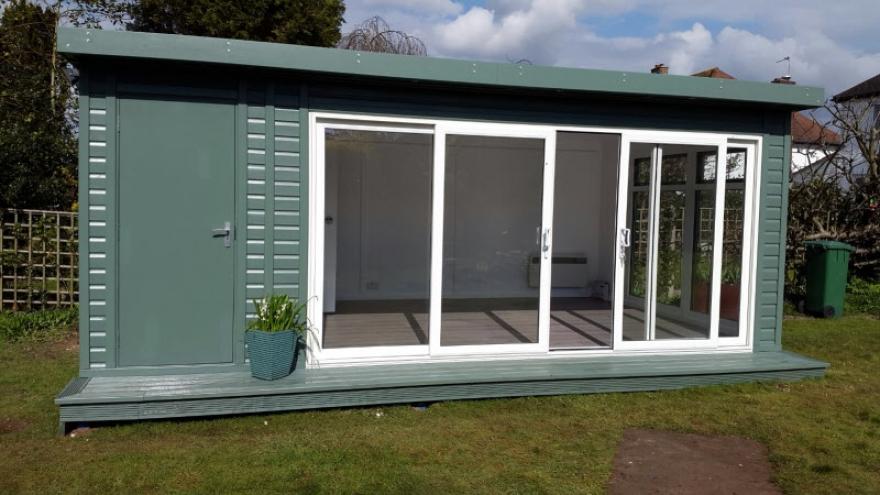 Can You Paint Upvc Doors >> Bakers Timber Buildings - garden room & offices - Executive - Bi-fold 2 Pane Slider