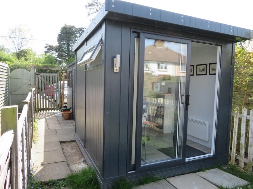 Compact Garden Office installed in Betchworth Surrey