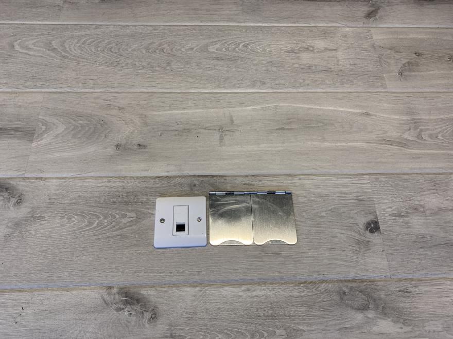 floor power and internet sockets