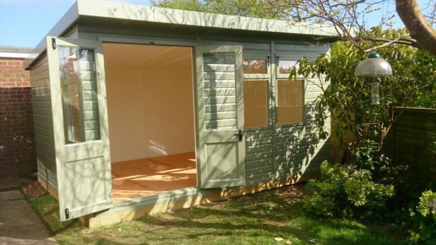 Art studio and garden office in pevensey bakers timber for Garden studio uk