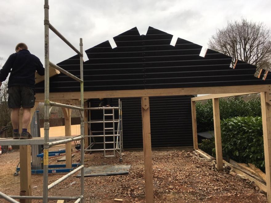 Garage roof build