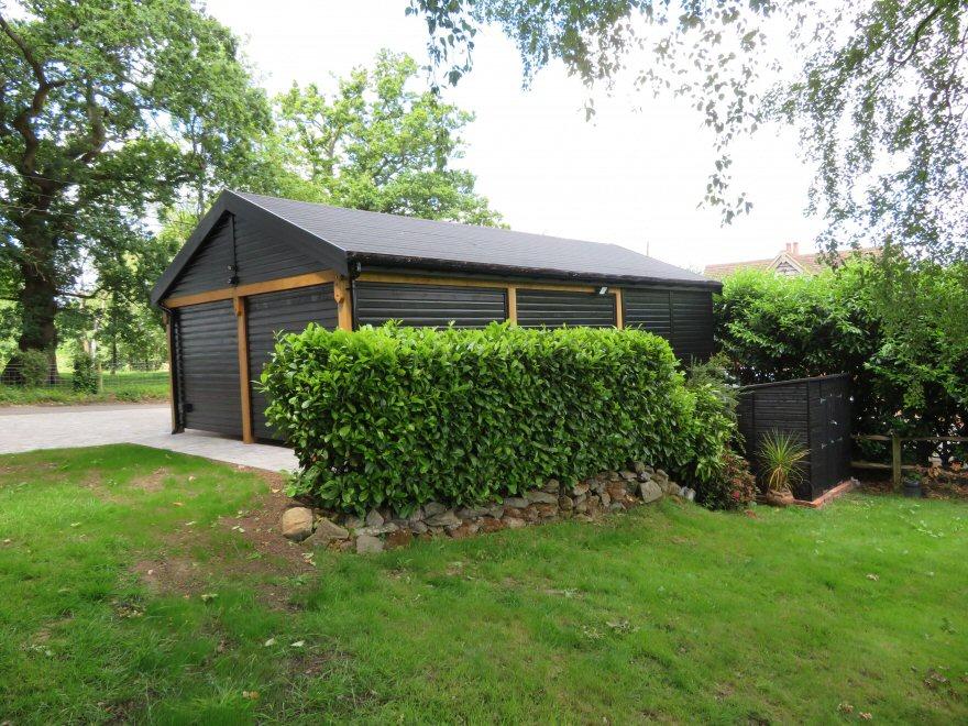 Garage build side view
