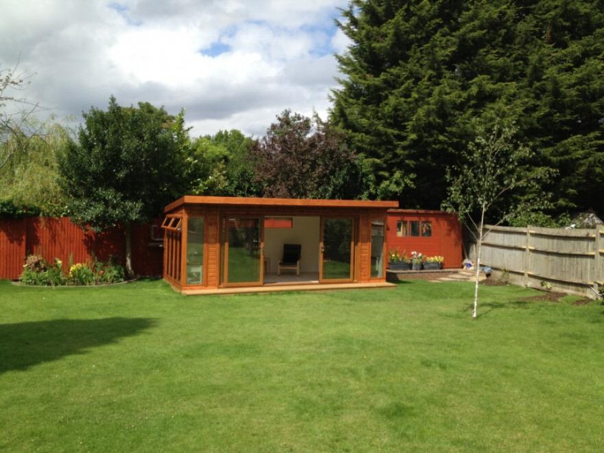 Garden room complete
