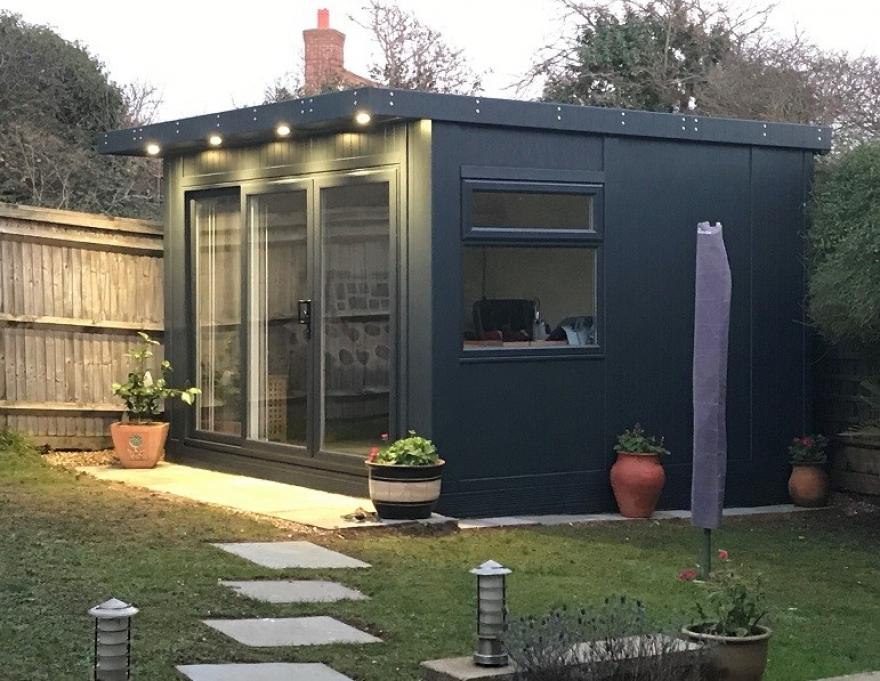 Garden Room with UPVC Doors and Windows