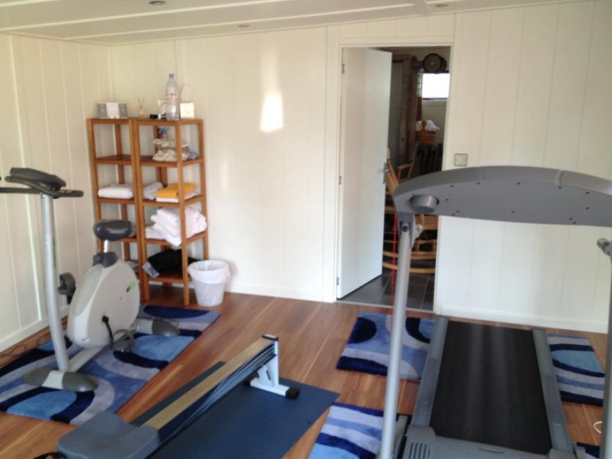 Gym leading to sauna room
