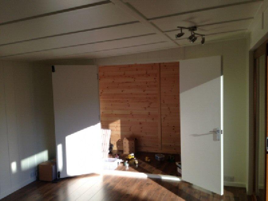 Internal Flush doors - opened