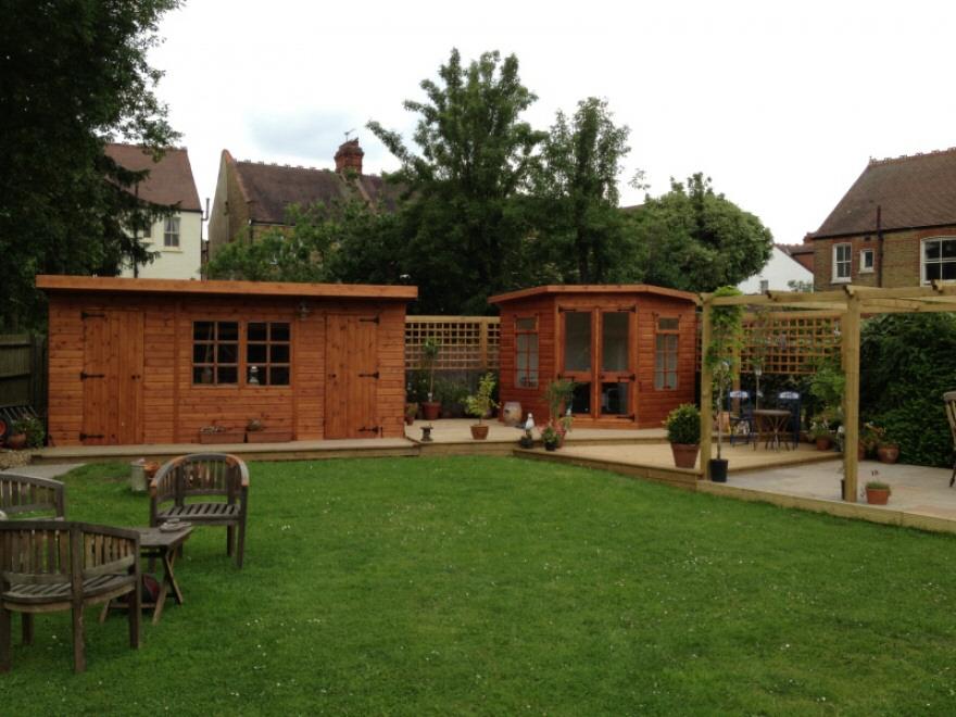 workshop and summerhouse