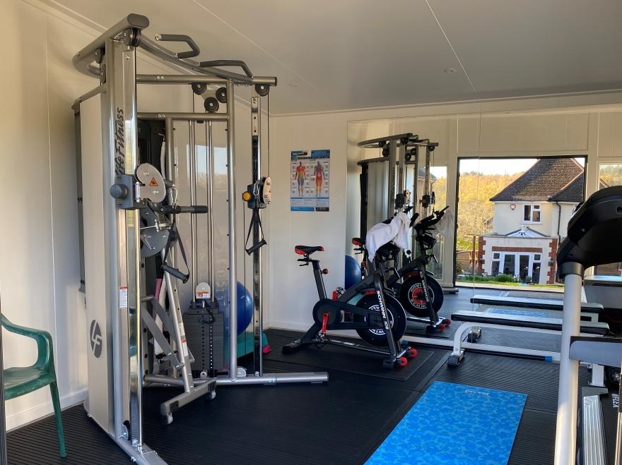 Multi gym in summer house Surrey
