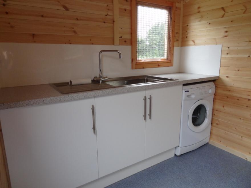 New kitchen/wash area installed