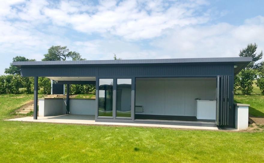 Bi-fold doors in aluminium for Essex based customer