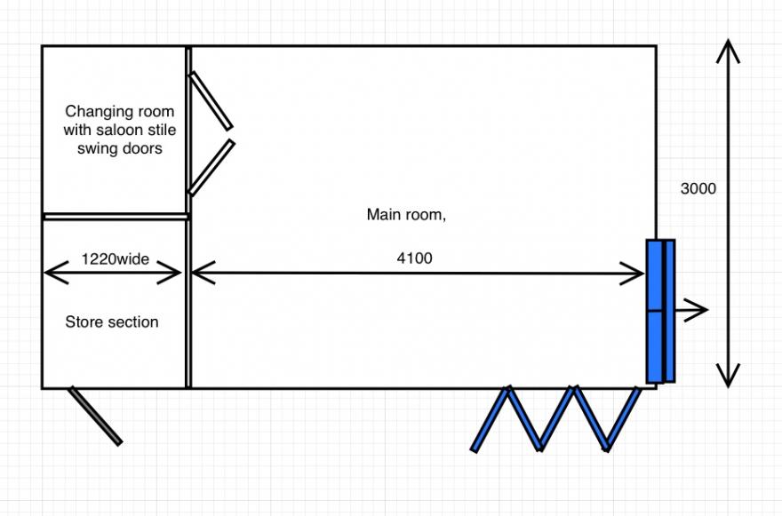 Plan drawing of principle layout