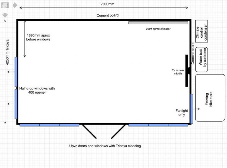 Garden Room Plan Drawing in Ashtead Surrey
