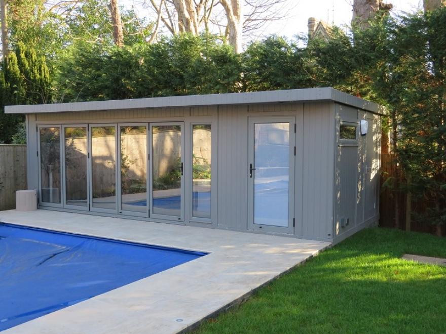 summer house  with bi-folding doors