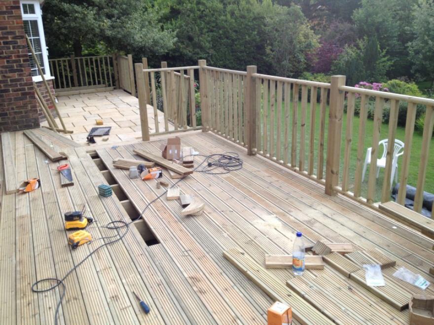 Customisable contemporary garden room bakers timber for Garden decking lights uk