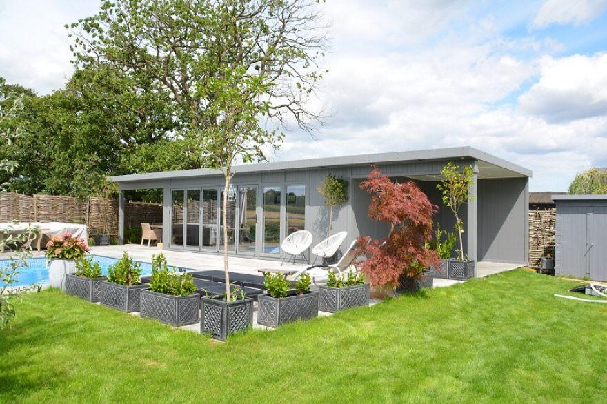 double canopy garden summerhouse