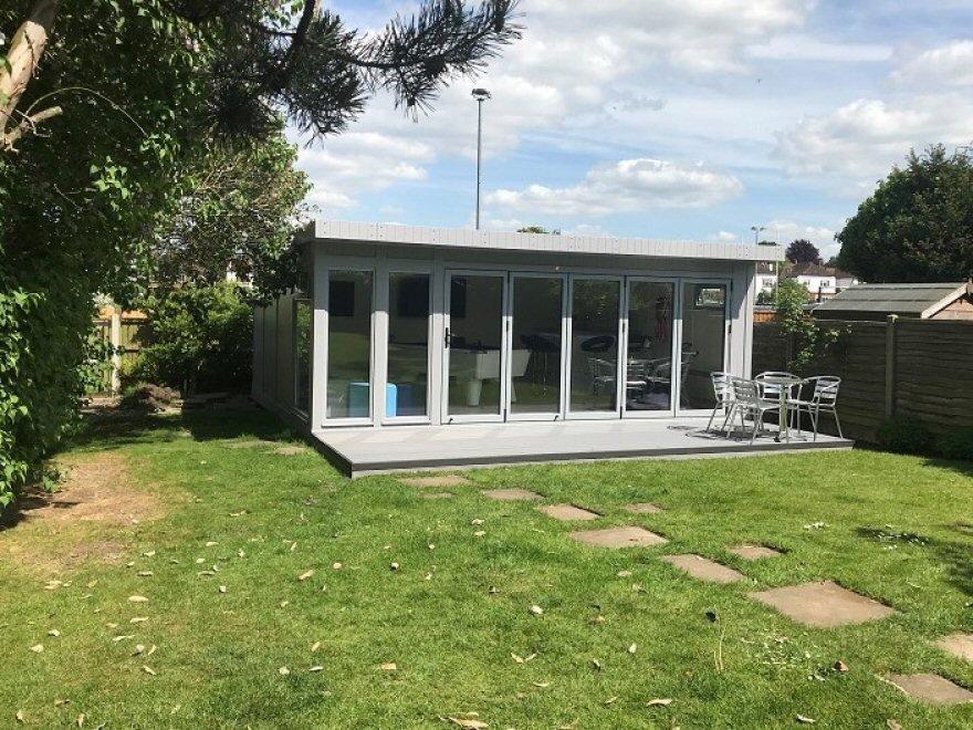 Bi-fold summerhouse Cheam Surrey London