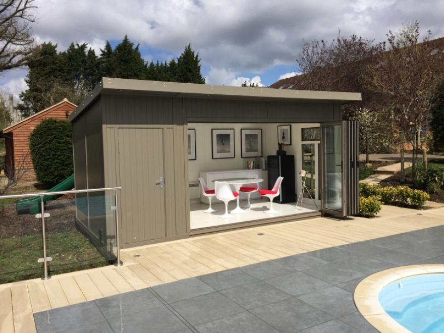 bi-fold door summer house in Kent