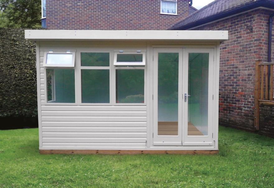 'Jay' garden building features pattern 10 doors as an option