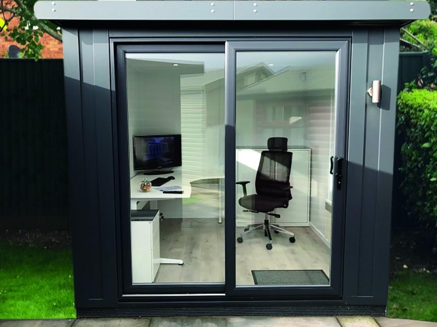 sliding door compact office