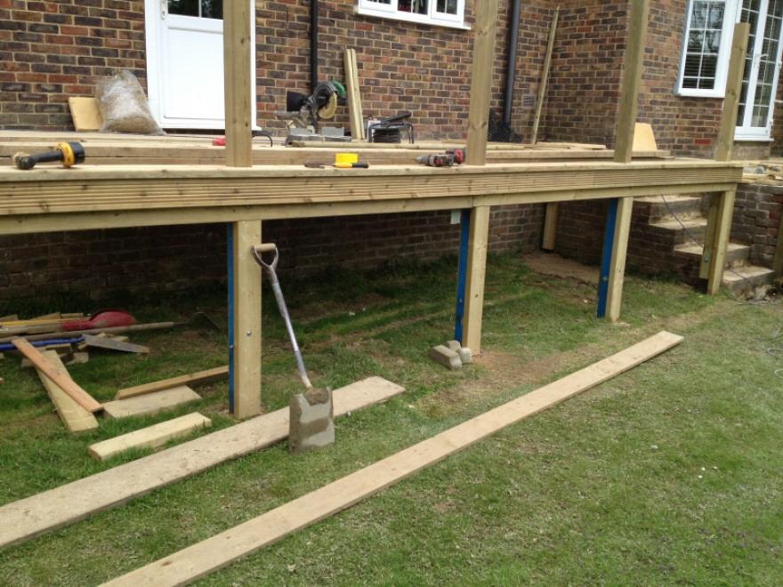 Work in progress of rear with steels clad.